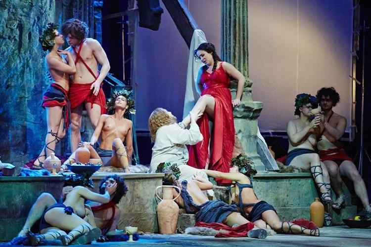 Сцена из оперы «Тангейзер» в постановке Новосибирского театра оперы и балета