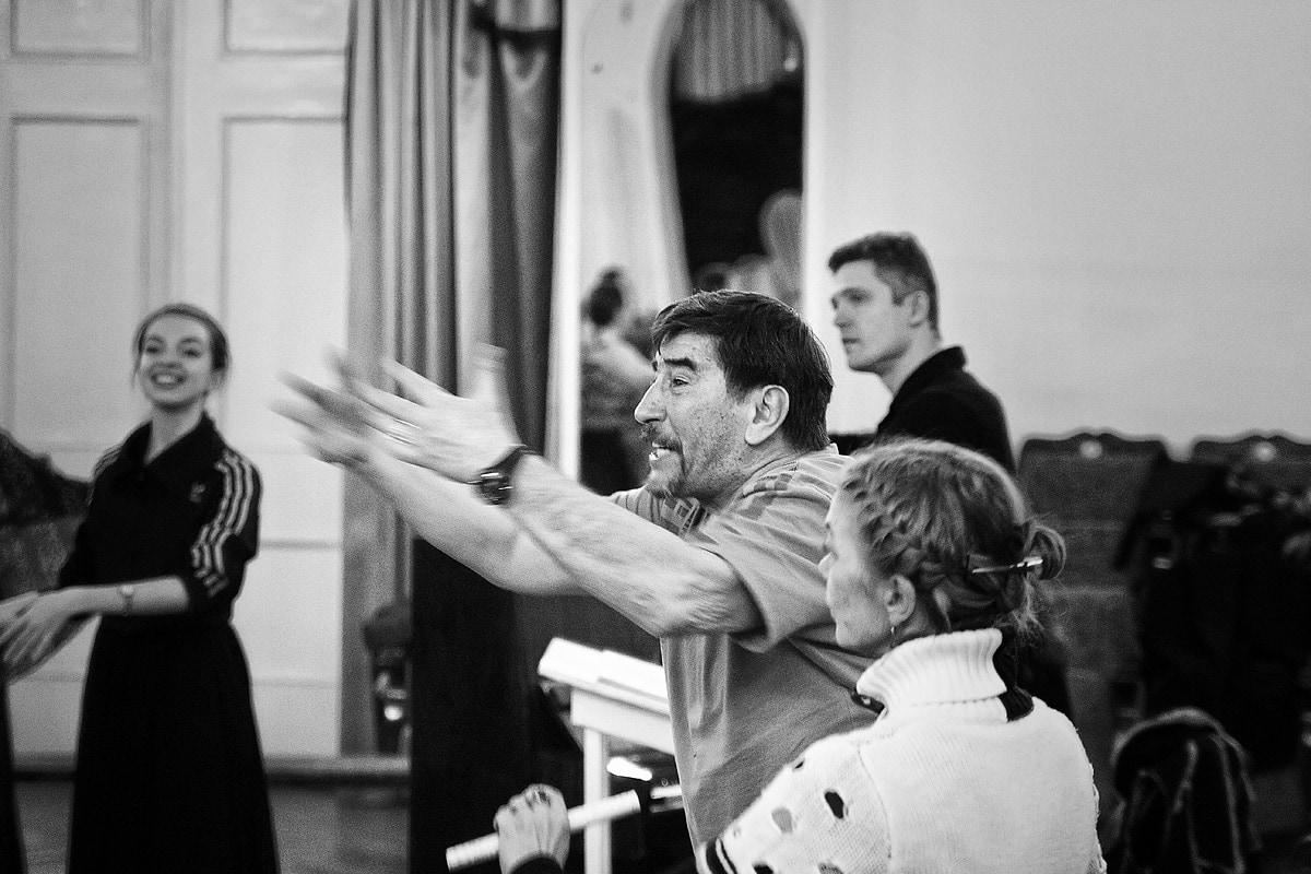 Иркин Габитов на репетиции