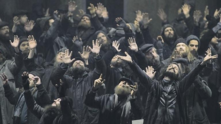 Рыцари Грааля в интерпретации Чернякова. Фото Рут Вальц предоставлено пресс-службой театра