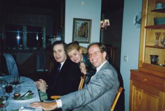 Альфред Шнитке, Ирина Шнитке, Гидон Кремер, Стокгольм, 1989 год. Фото из архива Ирины Шнитке