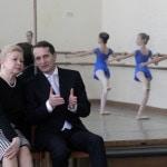 Спикер Госдумы РФ С.Нарышкин посетил Московскую государственную академию хореографии