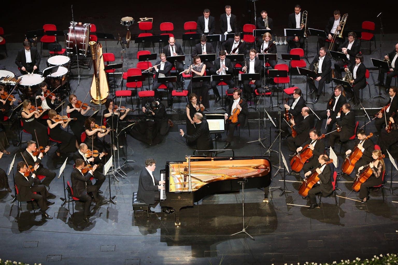 Денис Мацуев, Валерий Гергиев и оркестр Мариинского театра в Астане