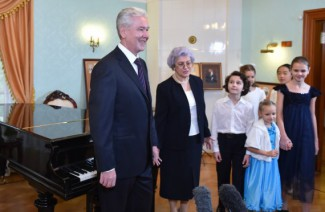 С. Собянин на торжественном открытии музыкальной школы им. С. Танеева. 3 сентября 2014 г.