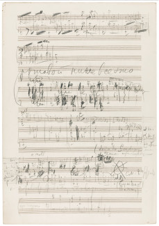 Эскизы оркестровой Сюиты №2, op.53 П. И. Чайковского. Фото - Sotheby's