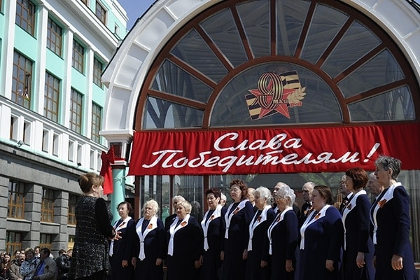 Хоры России спели в Москве в честь 70-летия Победы. Фото - Евгений Курсков/ТАСС