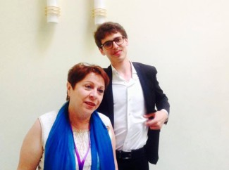 Люка Дебарг со своим педагогом Реной Шерешевской. Фото - Елена Чишковская