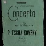 Обложка издания партитуры Концерта №1 для фортепиано с оркестром из личной библиотеки Чайковского