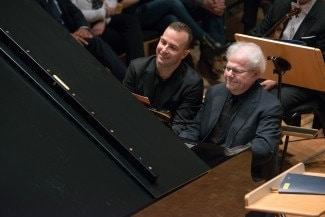 Янник Незе-Сеген и Эммануэль Акс. Фото © Jan Regan/The Philadelphia Orchestra