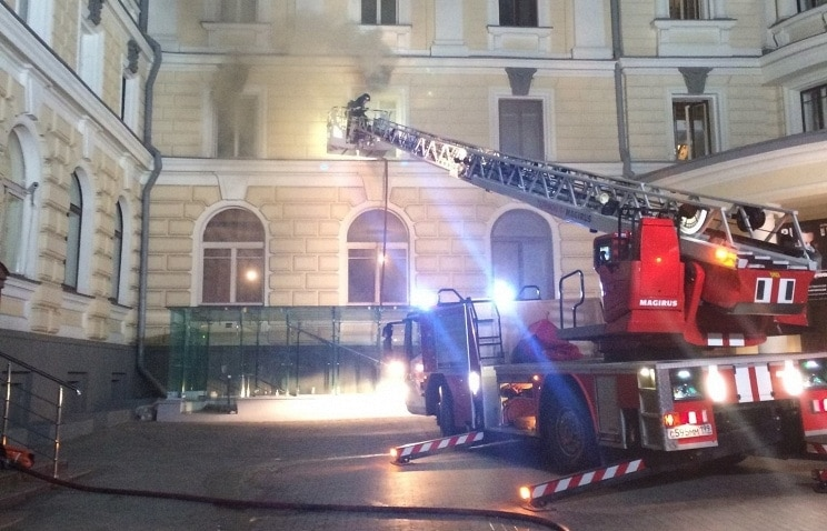 Пожар в Московской консерватории