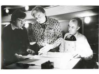 Клаудио Аббадо, Юрий Любимов и Луиджи Ноно во время работы в Ла Скала. Фото - lyubimov.info