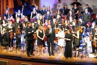 В финале «Оркестрового салюта». Фото: Наталья Подкорытова.