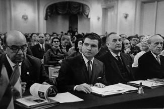 Члены жюри II конкурса во главе с Э. Гилельсом, 1962 г. Фото - предосталено музеем Чайковского в Клину