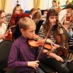 Мэр Казани Ильсур Метшин посетил репетицию юных музыкантов