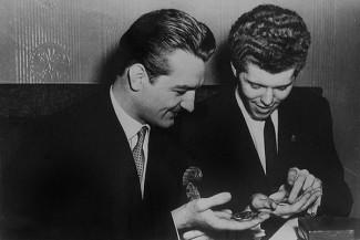 Победители I конкурса имени Чайковского Валерий Климов и Ван Клиберн, 1958 год