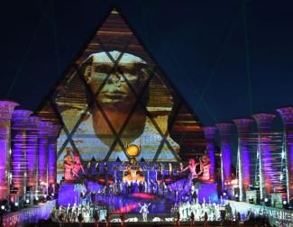 Постановка «Аиды» Дж. Верди была представлена в Астане на открытом воздухе с красочными декорациями, элементами шоу и фейерверком