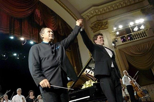 Дмитрий Лисс и Денис Мацуев. Фото: Виталий Пустовалов