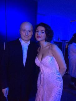 Пааво Ярви и Катя Буниатишвили после концерта в Пярну