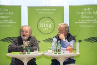 Дирижер Густав Кун и руководитель Тирольского фестиваля Питер Хазельштайнер. Фото - Ян Хатвляйш