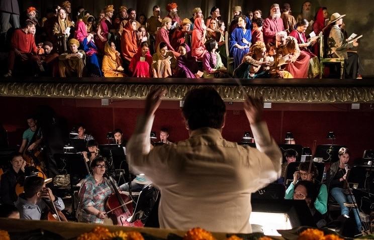 «Сатьяграха» Филиппа Гласса в Екатеринбургском театре оперы и балета. Фото - Донат Сорокин