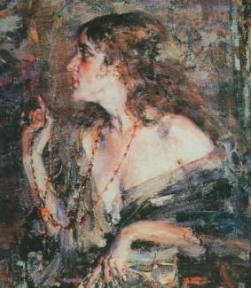 Портрет Ариады Микешиной (художник Николай Фешин)