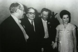 Мстислав Ростропович, Дмитрий Шостакович, Бенджамин Бриттен и Галина Вишневская