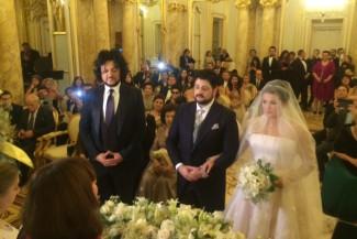 Анна Нетребко, Юсиф Эйвазов на свадебной церемонии. Свидетель со стороны жениха Филипп Киркоров. Фото - Филипп Гончаров