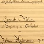 В Канаде обнаружен забытый скрипичный концерт Юхана Хальворсена
