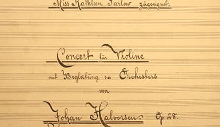Обнаружен забытый скрипичный концерт Хальворсена