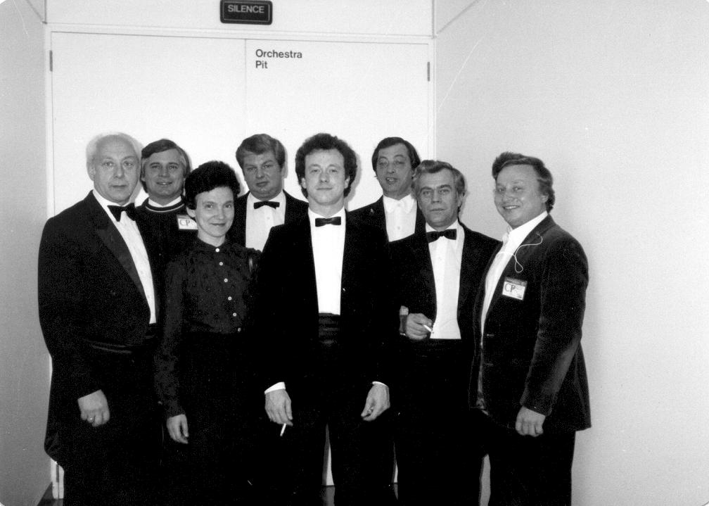 Группа артистов оркестра Большого театра на гастролях в Австралии (1985)