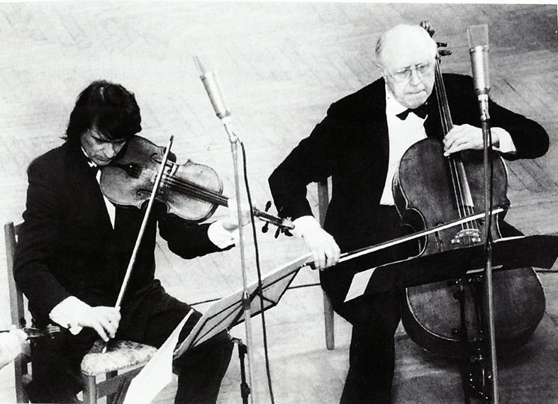 Юрий Башмет и Мстислав Ростропович. Фото - А. Ратников, 90-е гг.