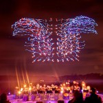 100 мерцающих дронов установили рекорд Гиннесса под музыку Бетховена
