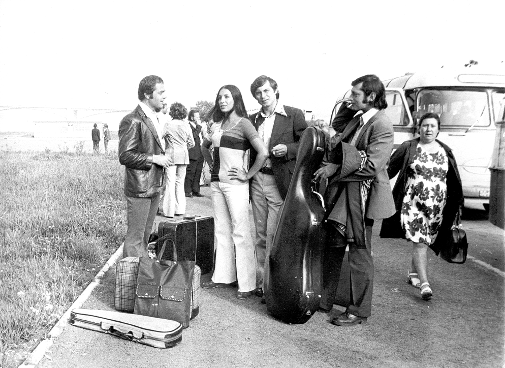 На гастролях (середина 70-х годов)