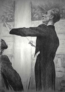 Евгений Мравинский, гравюра Г. Верейского, 1947 год