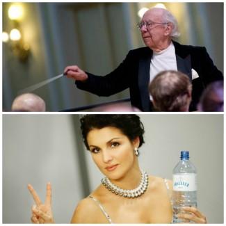 Геннадий Рождественский и Анна Нетребко