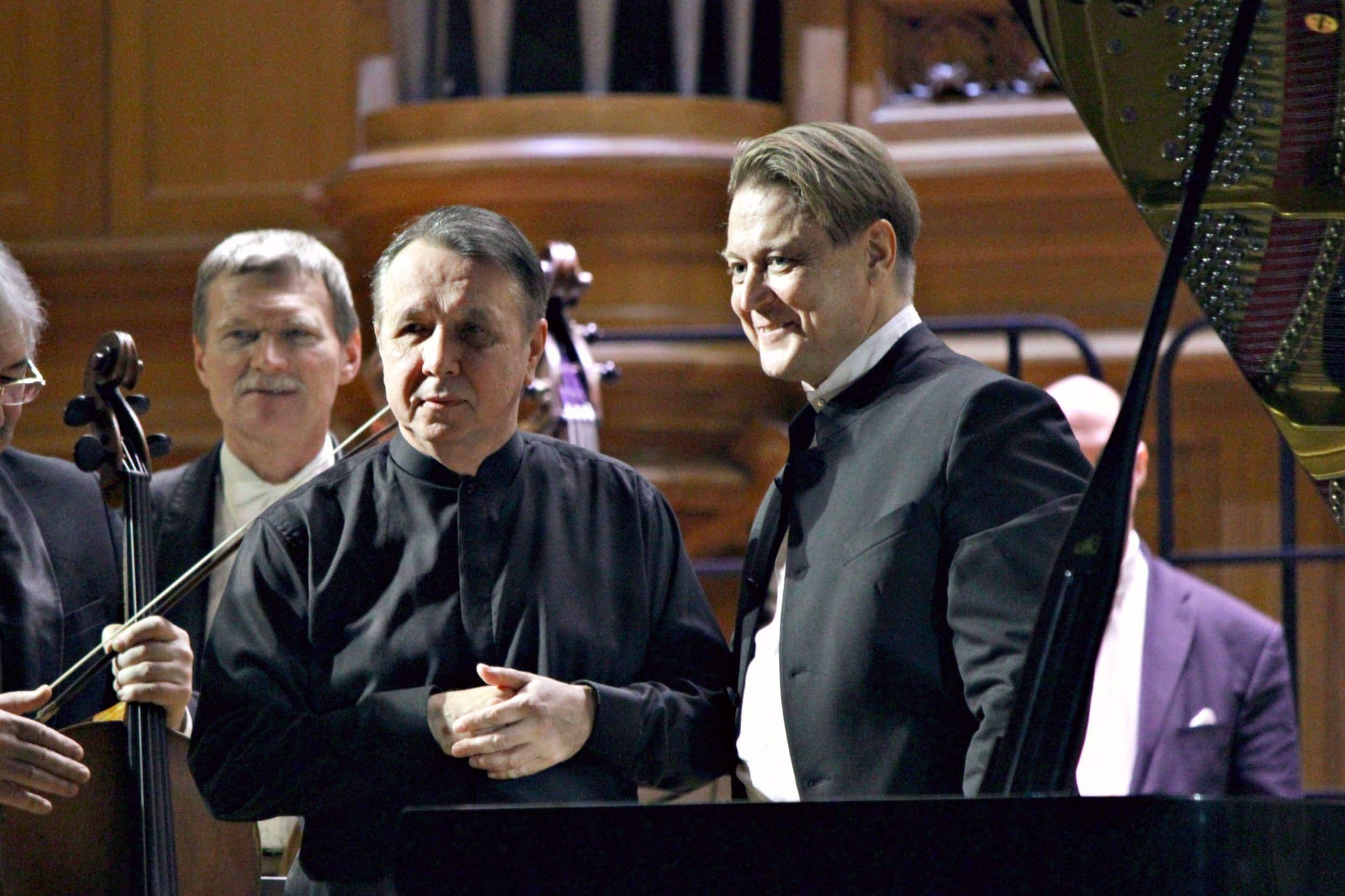 Михаил Плетнев, Александр Сладковский. Фото - Ирина Шымчак