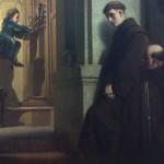 """""""Юный Моцарт играет на органе"""". Картина художника Генриха Лоссова, 1864"""