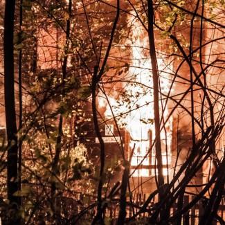 Пожар в Пушкинском музыкальном колледже. Фото - Гузаль Бурцева