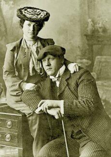 Федор Шаляпин с женой Иолой Игнатьевной Торнаги. 1903 год. Нижний Новгород.