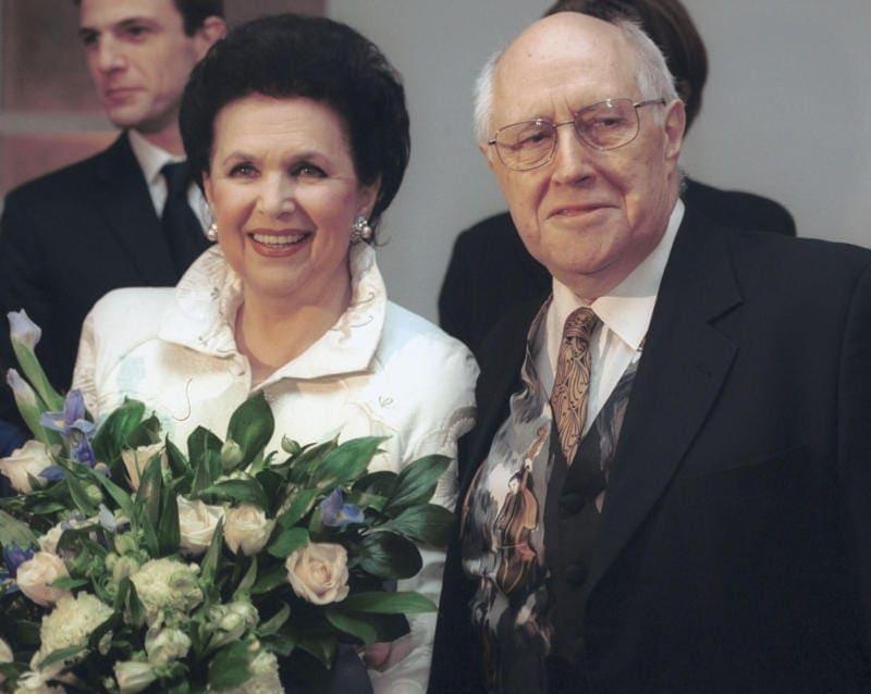 Галина Вишневская и Мстислав Ростропович