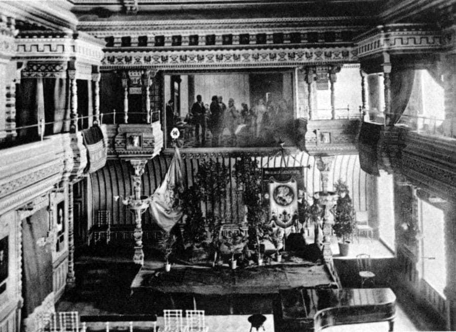 Зал ресторана «Славянский базар», конец 19 века. Фото - pastvu.com