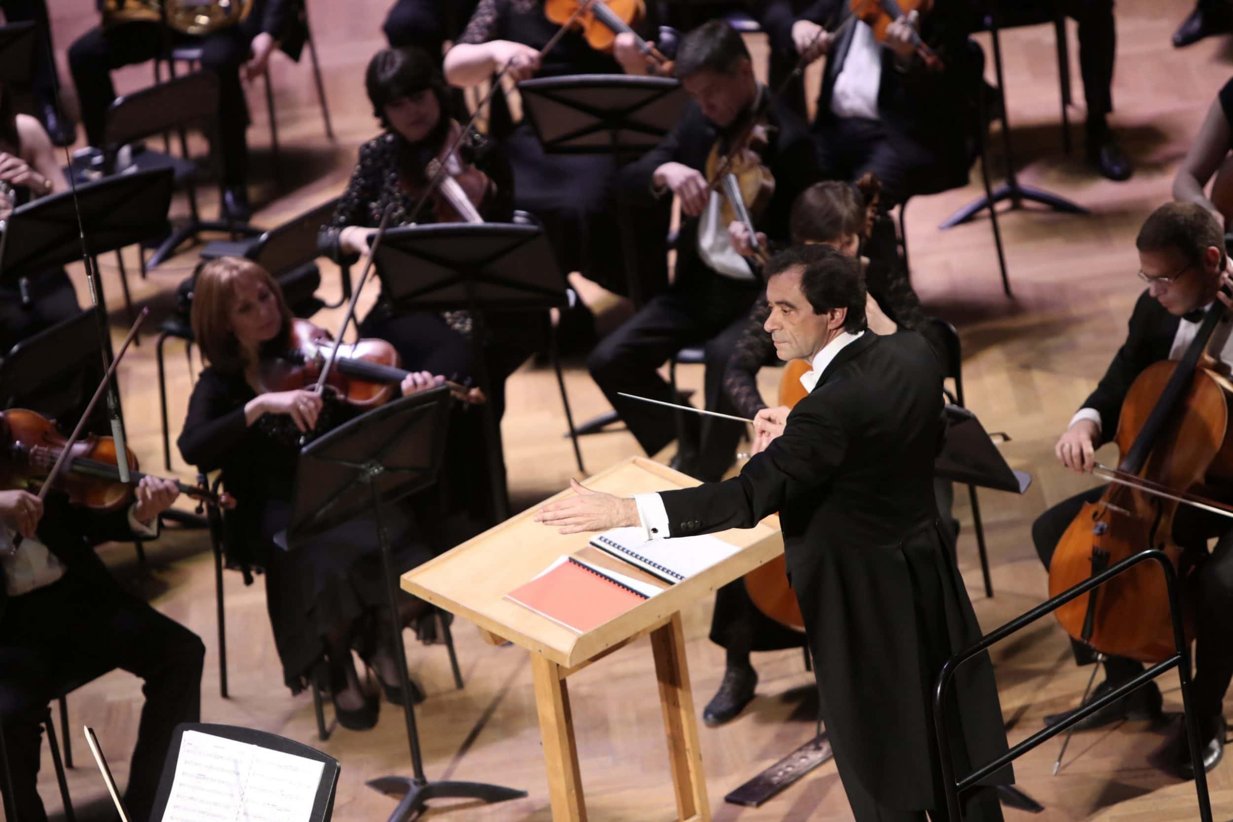 "Марчелло Рота и симфонический оркестр радио ""Орфей"". Фото - Русконцерт"