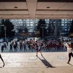 В Красноярске прошла первая зарядка под классическую музыку