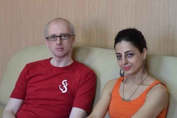 Юрий Бурлака и Сусанна Мартиросян в перерыве между репетициями