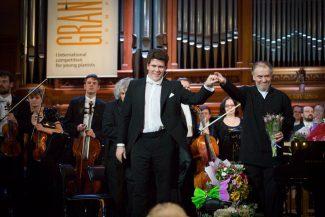 Денис Мацуев и Валерий Гергиев на открытии Grand piano competition