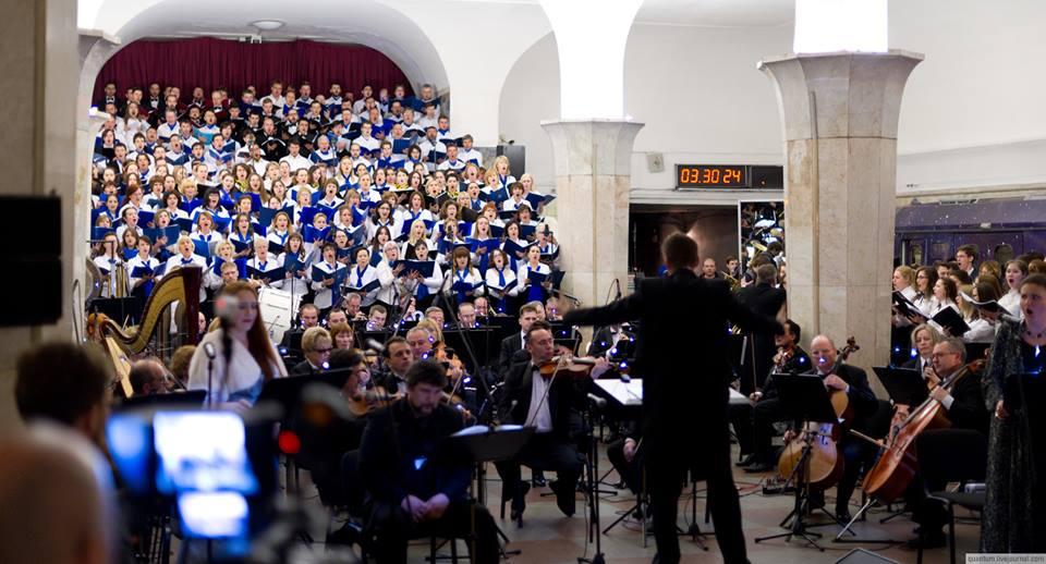 Впервые в истории Московского метрополитена под землей звучала настоящая итальянская опера