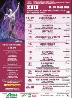 В Казани открывается Нуриевский фестиваль балета