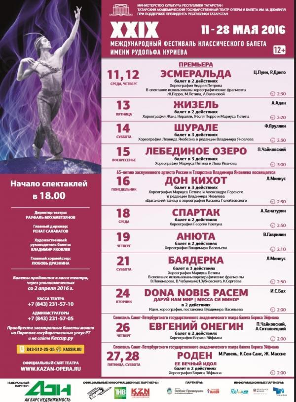 В Казани открывается Нуреевский фестиваль балета