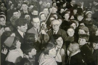П. Столярский и Д. Ойстрах в Одессе, 1939 год