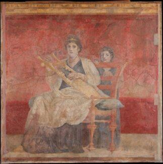 Фреска из римской виллы в Боскореале, 50–40-е годы до н. э. Фото - The Metropolitan Museum of Art
