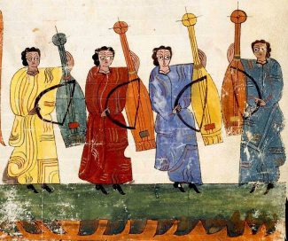 Миниатюра из Комментария на Апокалипсис Беата Лиебанского в списке монастыря Сан-Мильян-де-ла-Коголья, 900-950 годы. Фото - Biblioteca de Serafín Estébanez Calderón de San Millán de la Cogolla